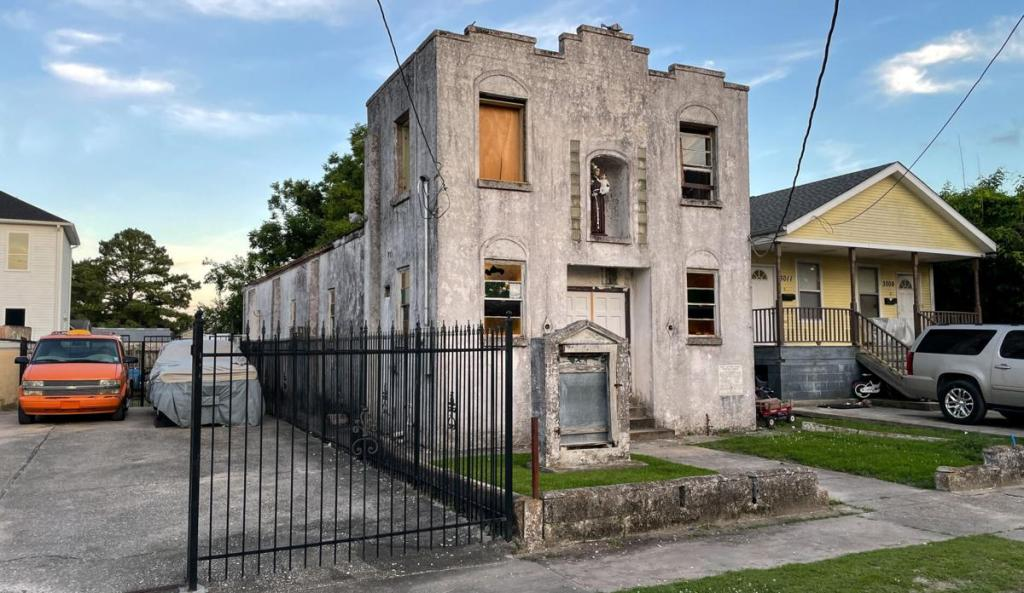 St. Anthony Divine Spiritual Temple in the Hollygrove neighborhood of New Orleans, as photographed in June 2021 by Times-Picayune   The New Orleand Advocate photojournalist David Grunfeld.