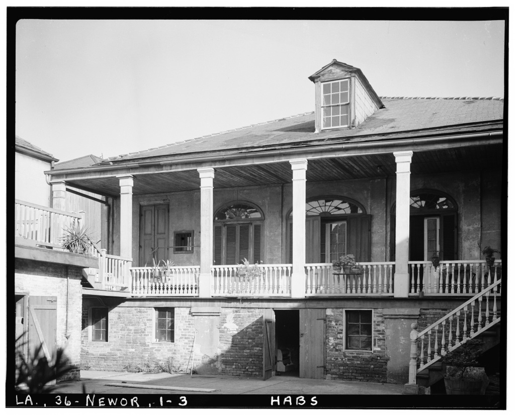 The back porch of the Beauregard-Keyes House.
